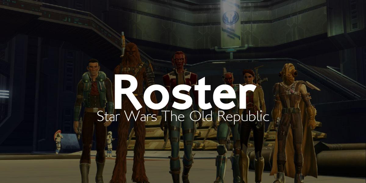 SWTOR – Inscription roster 1
