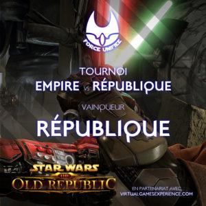 Tournoi Force Unfiée Empire vs République, le vainqueur