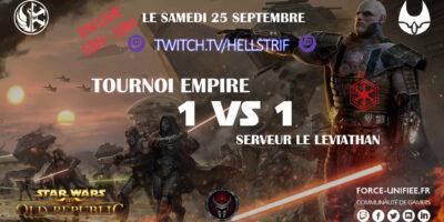 Tournoi 1 vs 1 star wars the old republic force unifiée